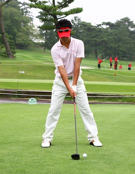 ゴルフスタンス幅1